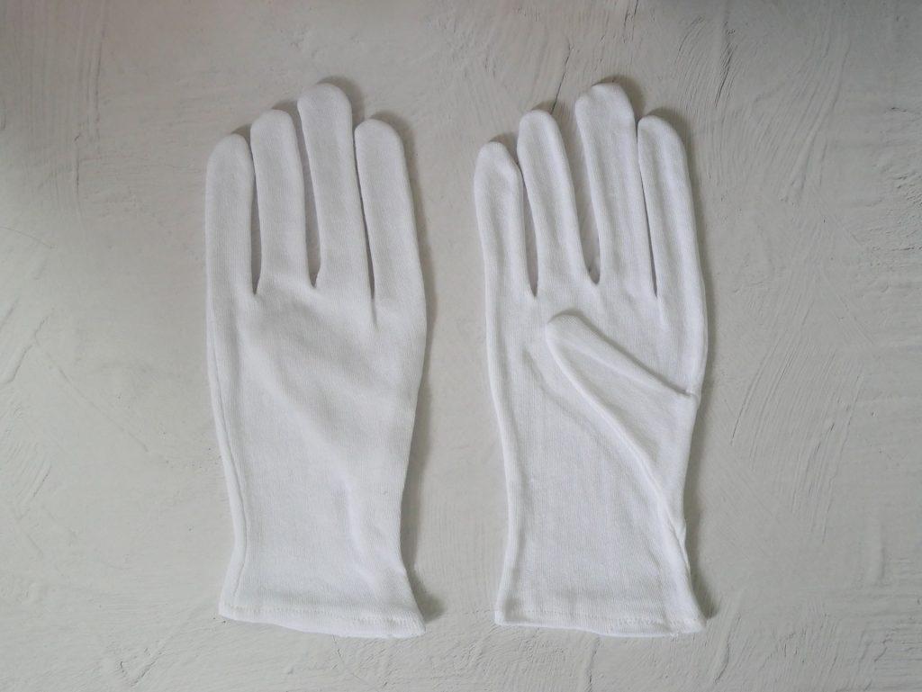 綿100%の白手袋