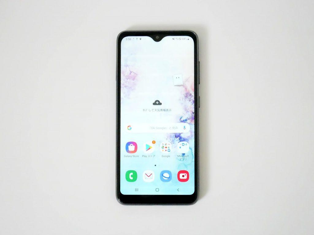 docomo Galaxy A20 SC-02M ホーム画面