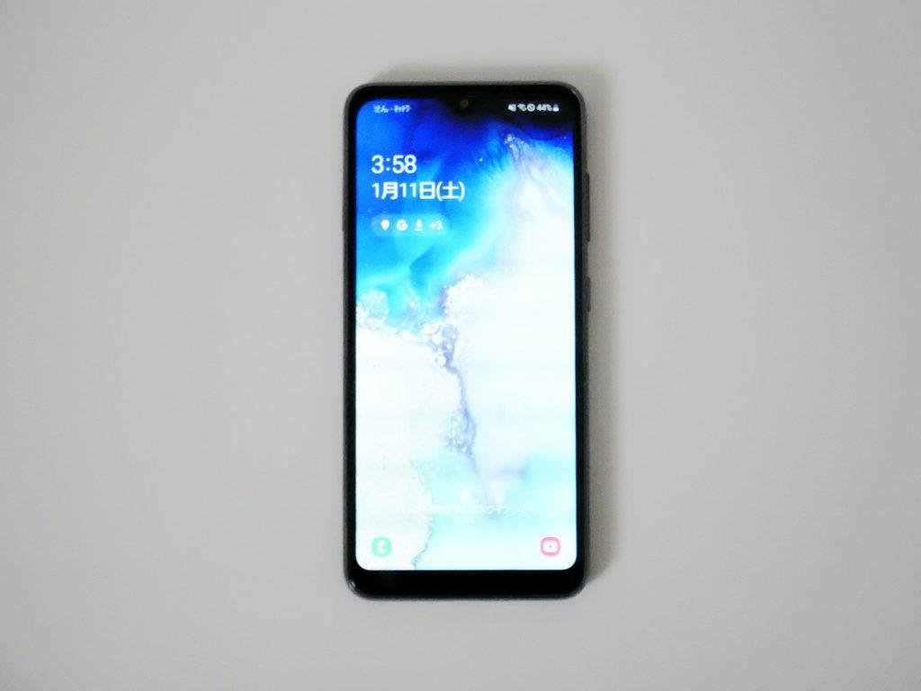 docomo Galaxy A20 SC-02M ロック画面