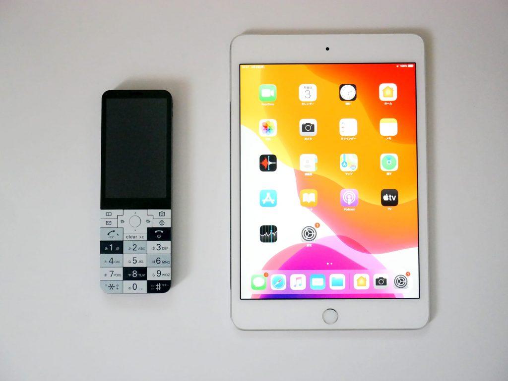 INFOBAR xvとiPad miniを並べて撮った写真