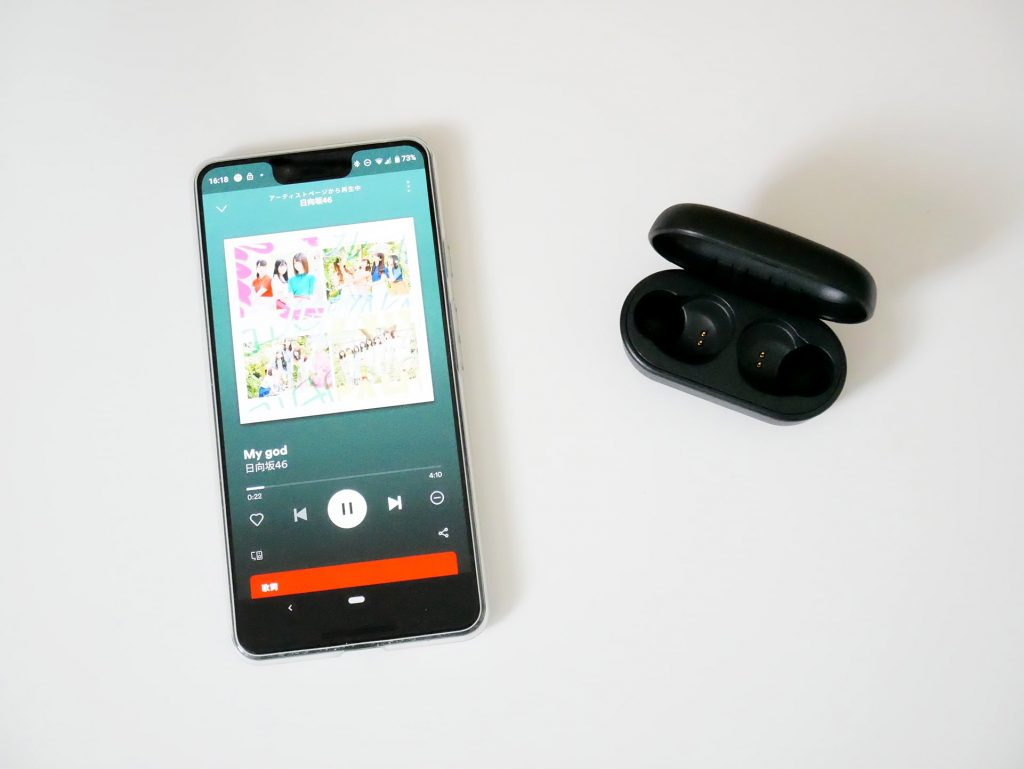 TW-E3AでSpotify音楽視聴