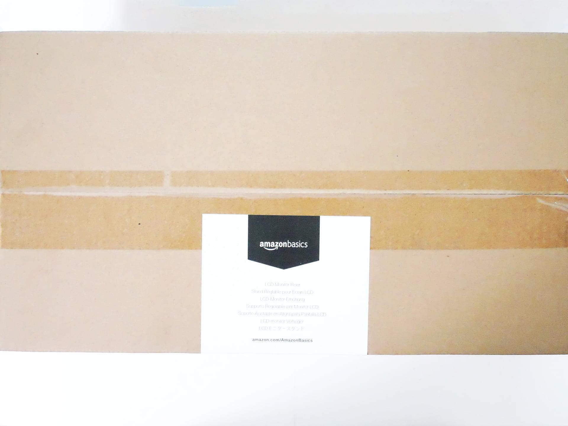 Amazonベーシック LCDモニタースタンド外箱