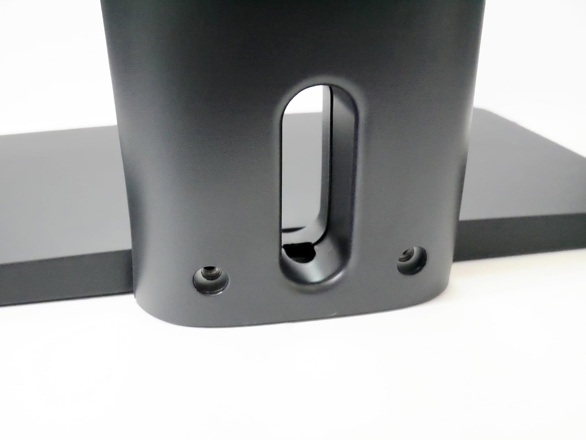 Amazonベーシック LCDモニタースタンドの台座とスタンドを固定