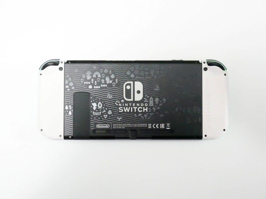 Nintendo Switch あつまれ どうぶつの森セット本体裏面イラスト