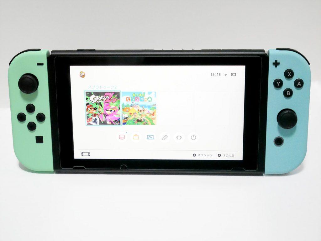 Nintendo Switch あつまれ どうぶつの森セット 本体ホーム画面