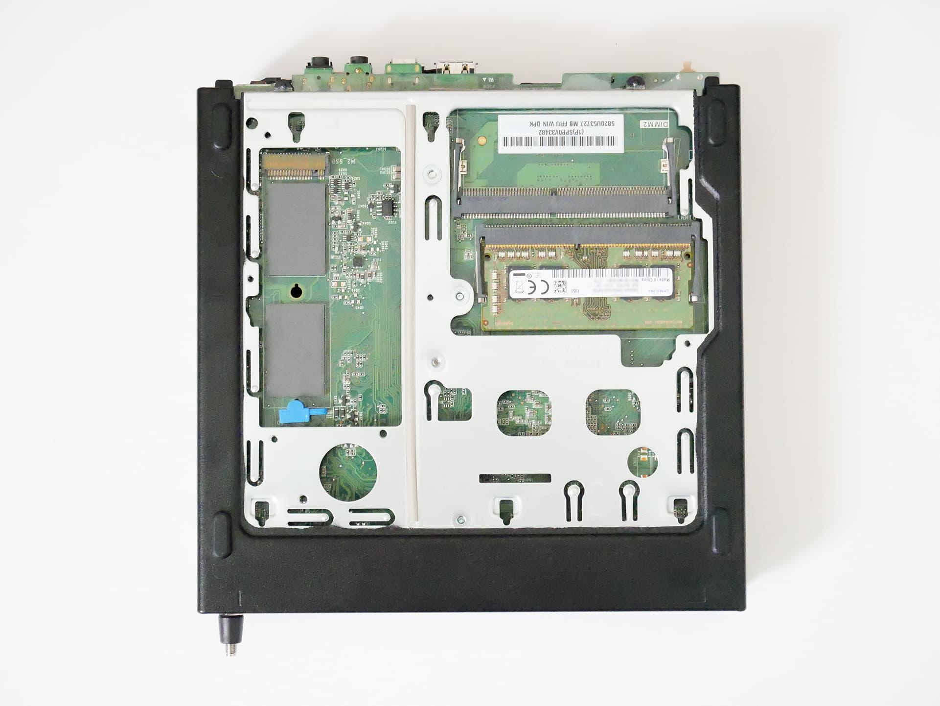 ThinkCentre M75q-1 TinyメモリとSSD設置スペース
