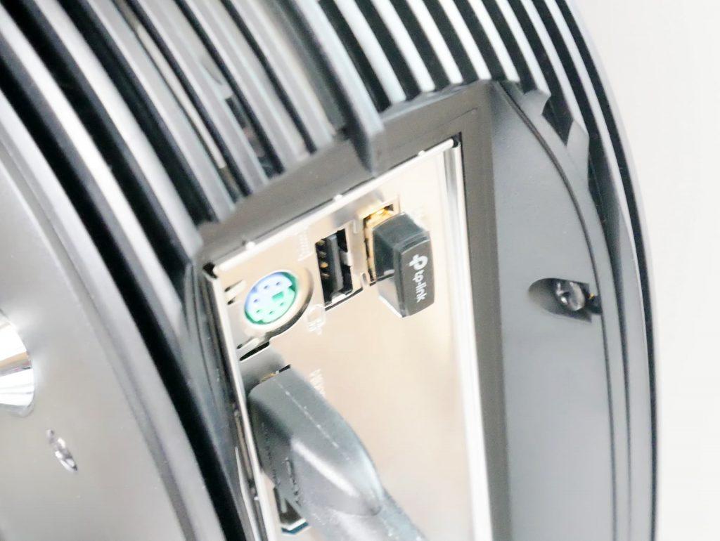 TP-Link「Archer T2U Nano」をマザーボードIOポートに挿した状態