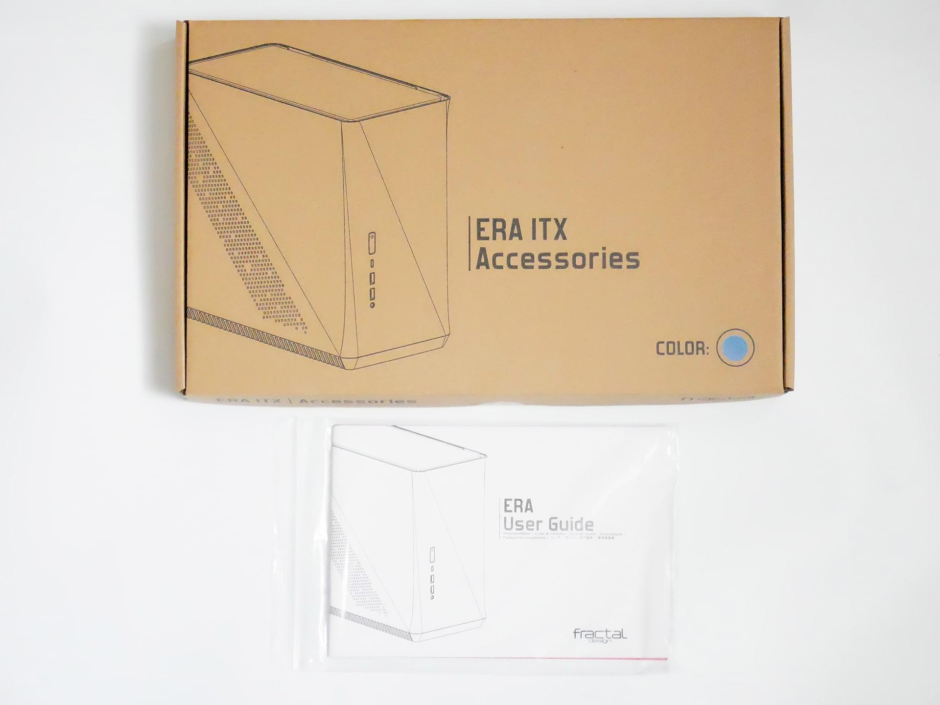 Fractal Design Era ITX アクセサリーボックスとユーザーガイド