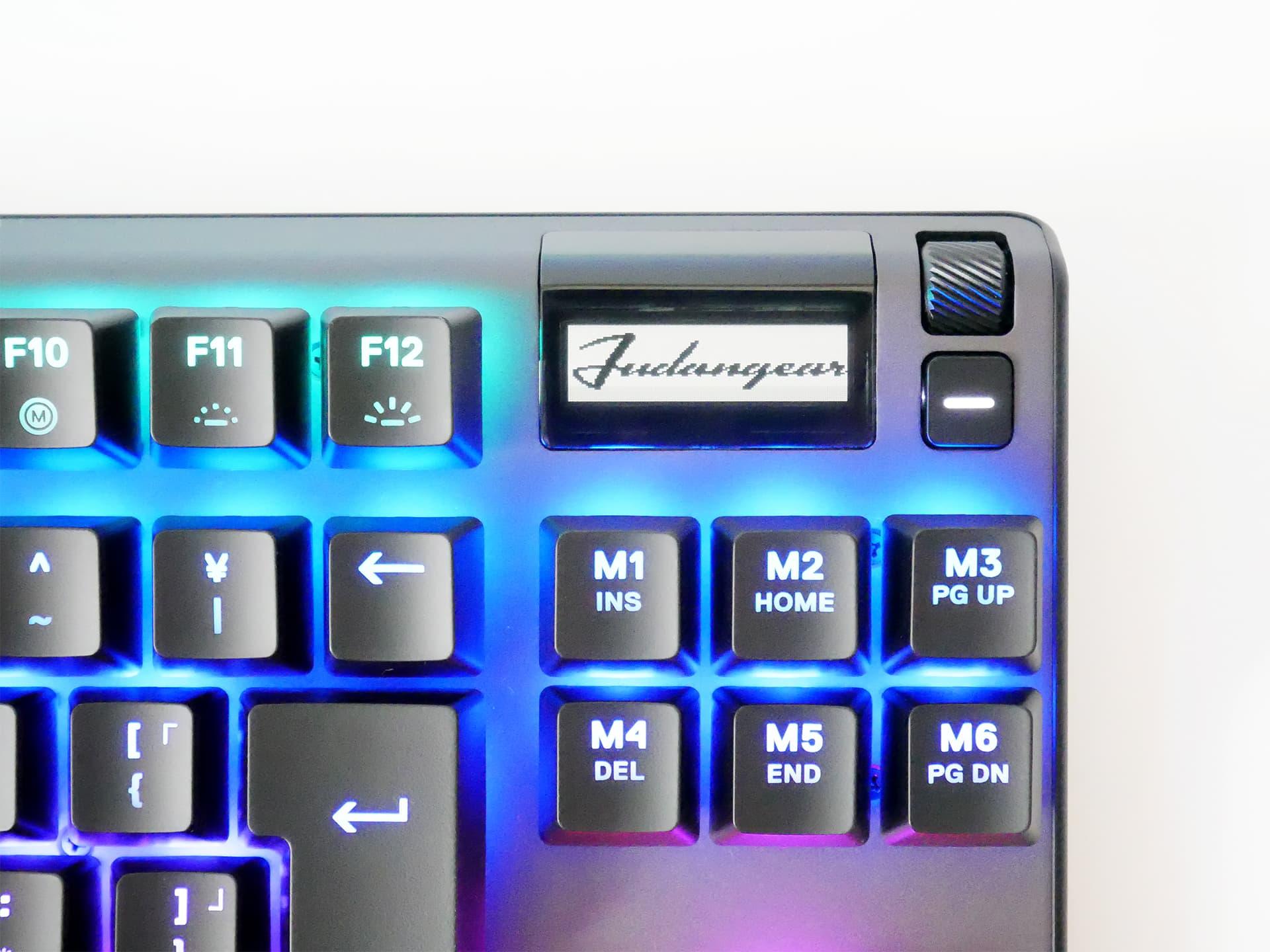 Apex Pro TKL JP 有機ELディスプレイにFudangearのロゴを表示