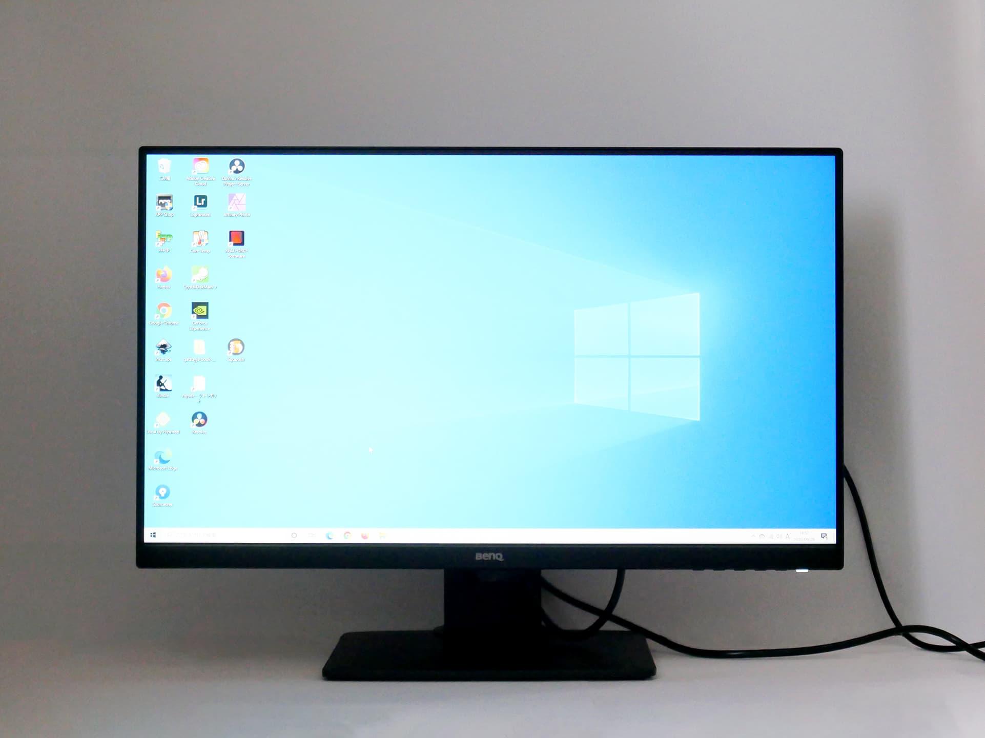 GW2780T Windowsホーム画面表示