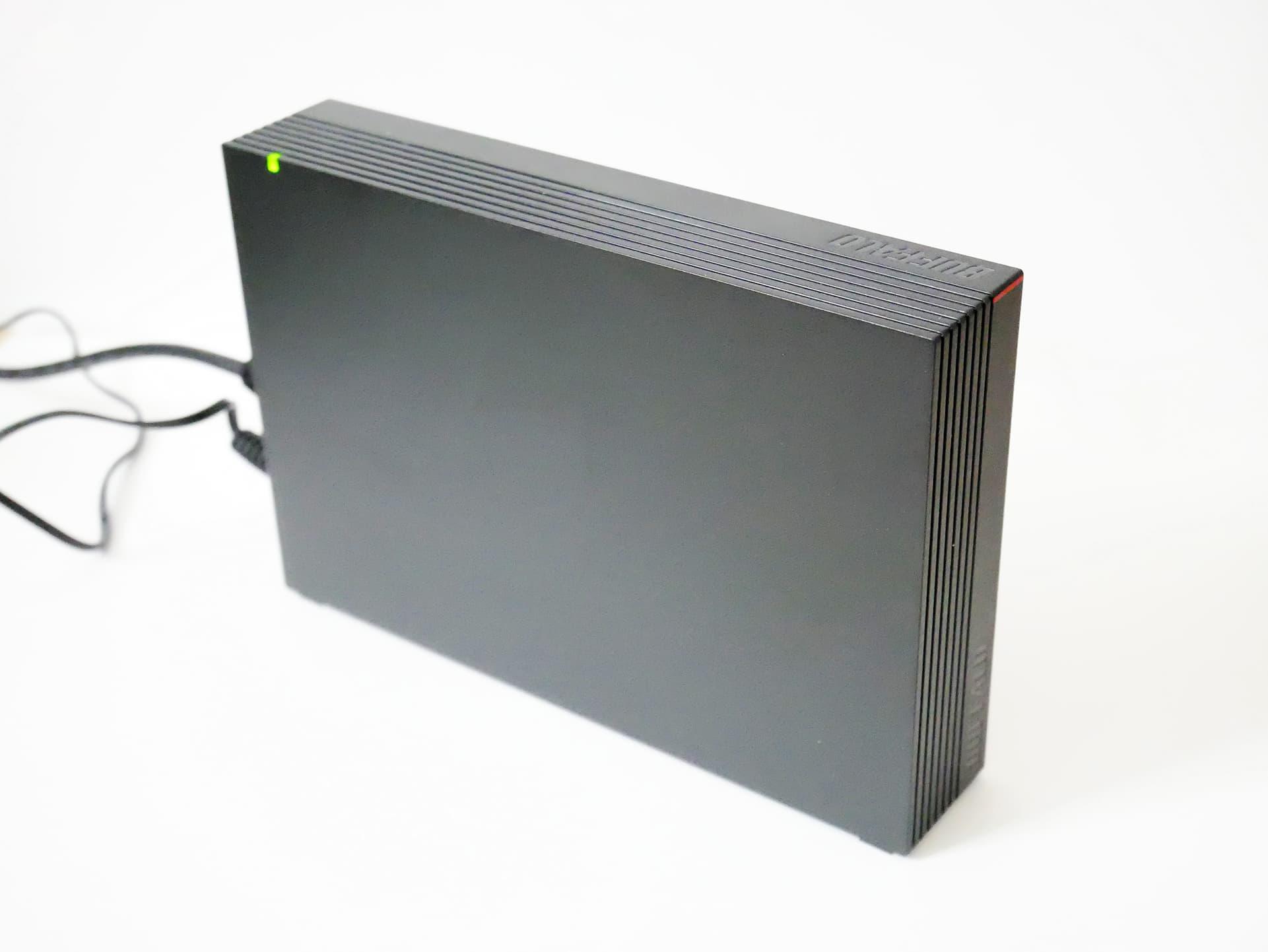 BUFFALO HD-NRLD3.0U3-BA 縦置き