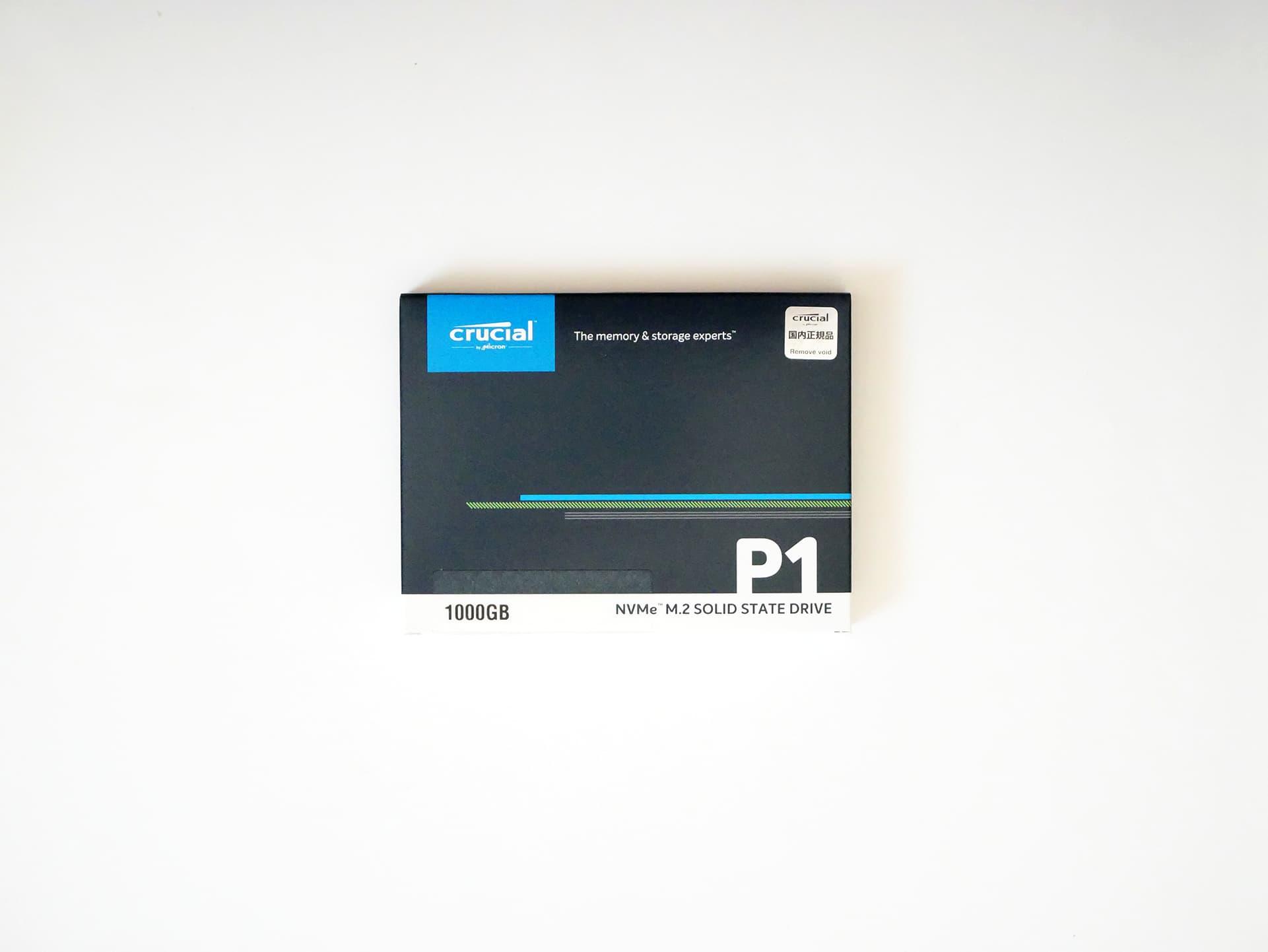 crucial NVMe M.2 SSD P1 1000GB パッケージ