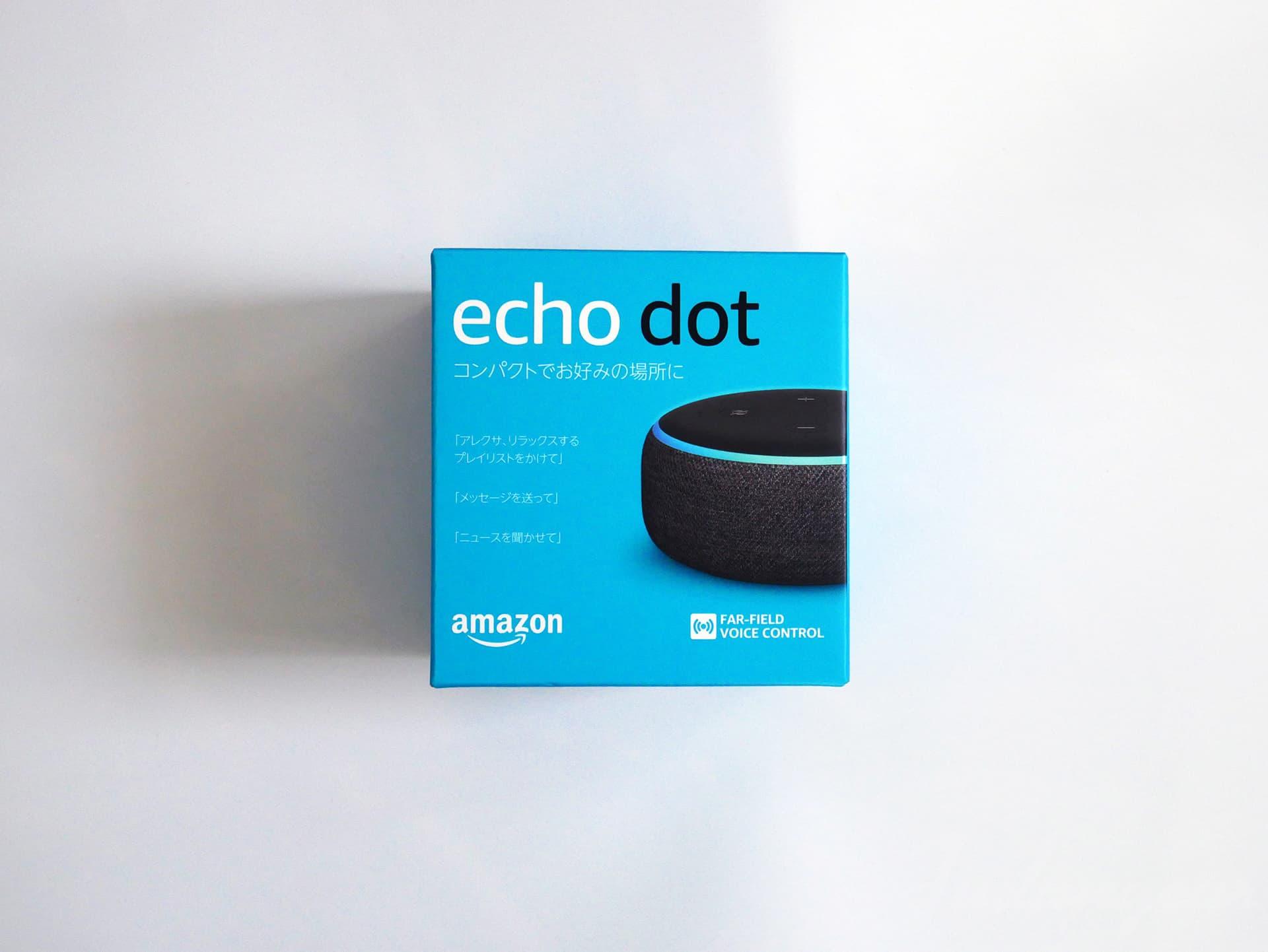 echo dotの外箱