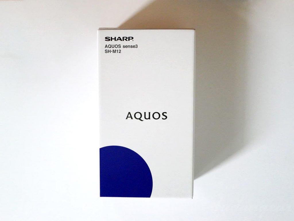 「AQUOS sense3 SH-M12」外箱
