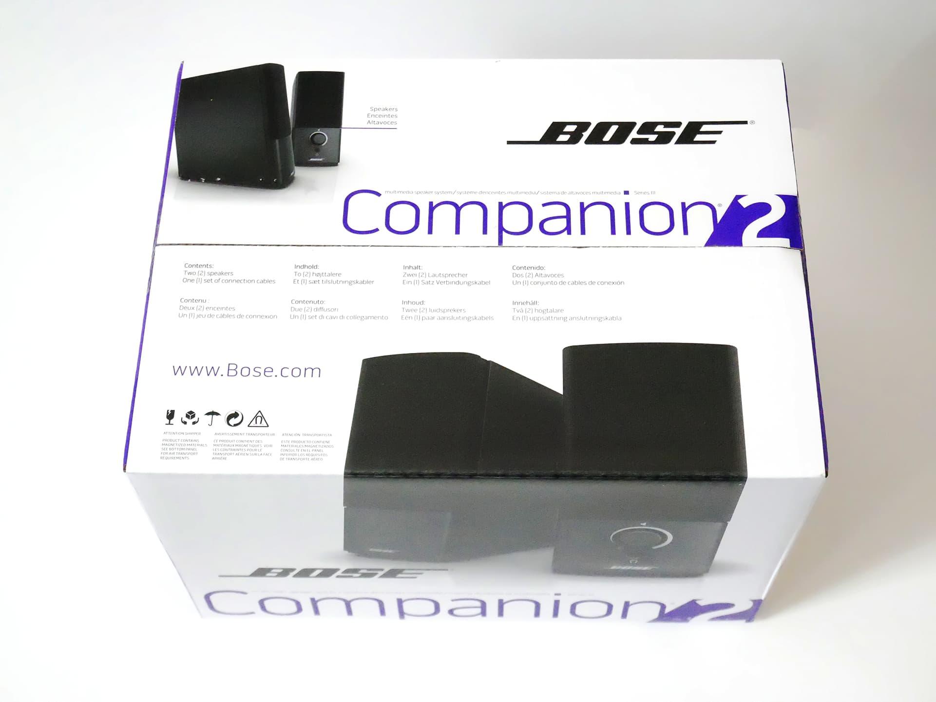Bose Companion 2 Series III 外箱