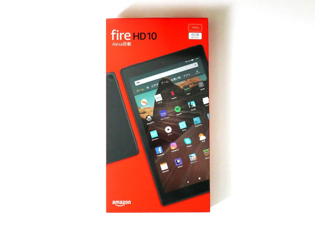Fire HD 10 タブレット(第9世代)外箱表面