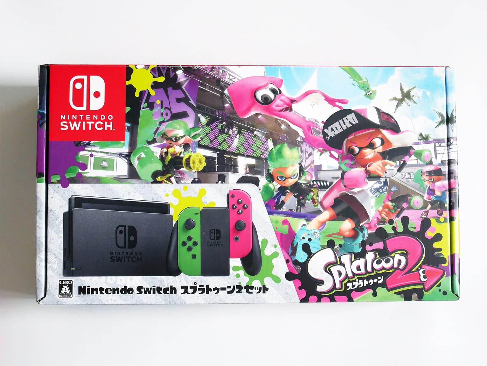 Nintendo Switch スプラトゥーン2セット外箱