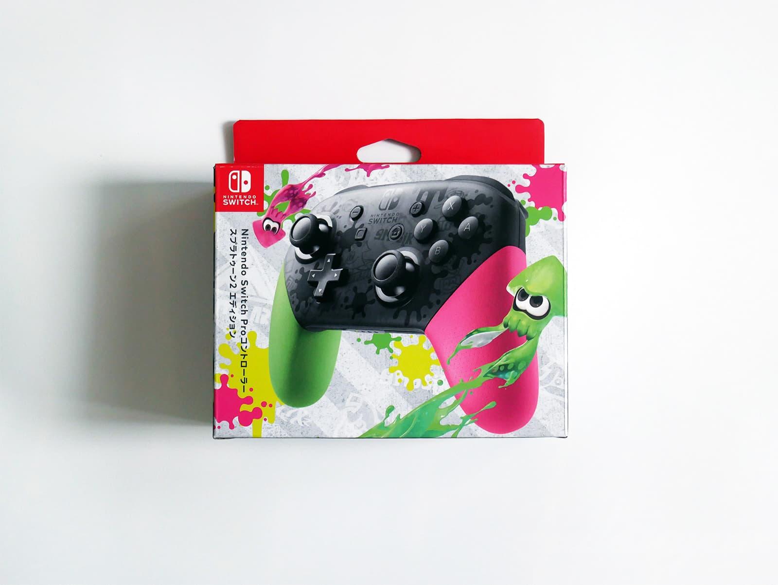 Nintendo Switch Proコントローラー スプラトゥーン2 エディション外箱