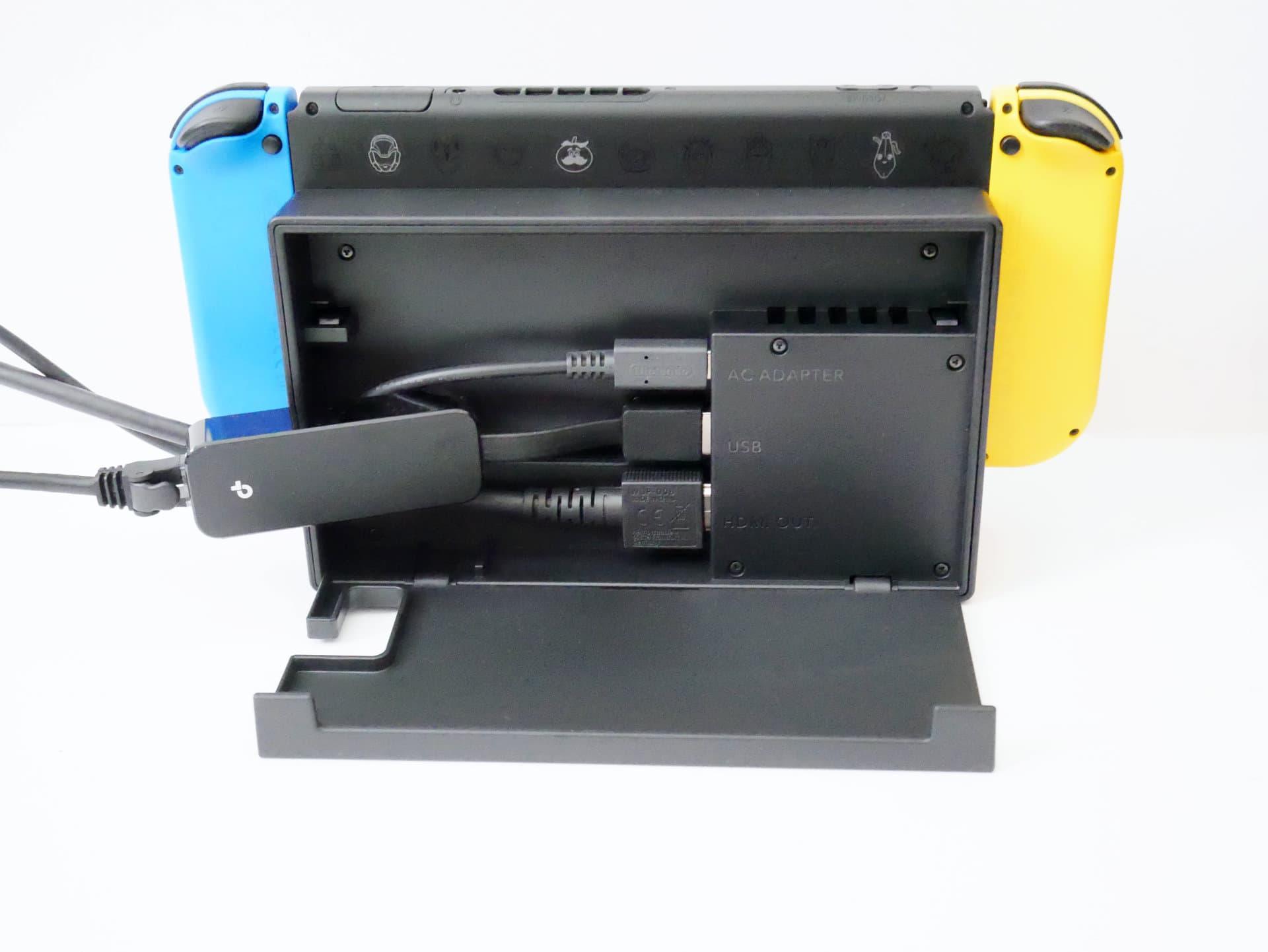 Nitendo Switch ドック背面USB端子にUE305を接続