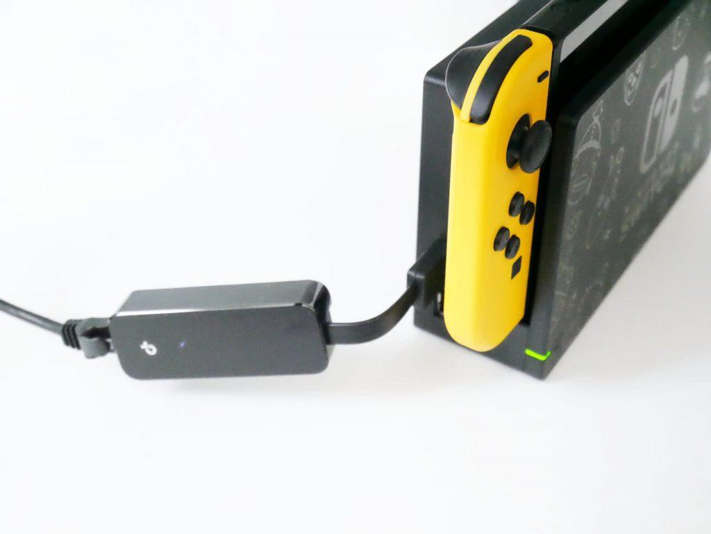 Nitendo Switch ドック側面USB端子にUE305を接続