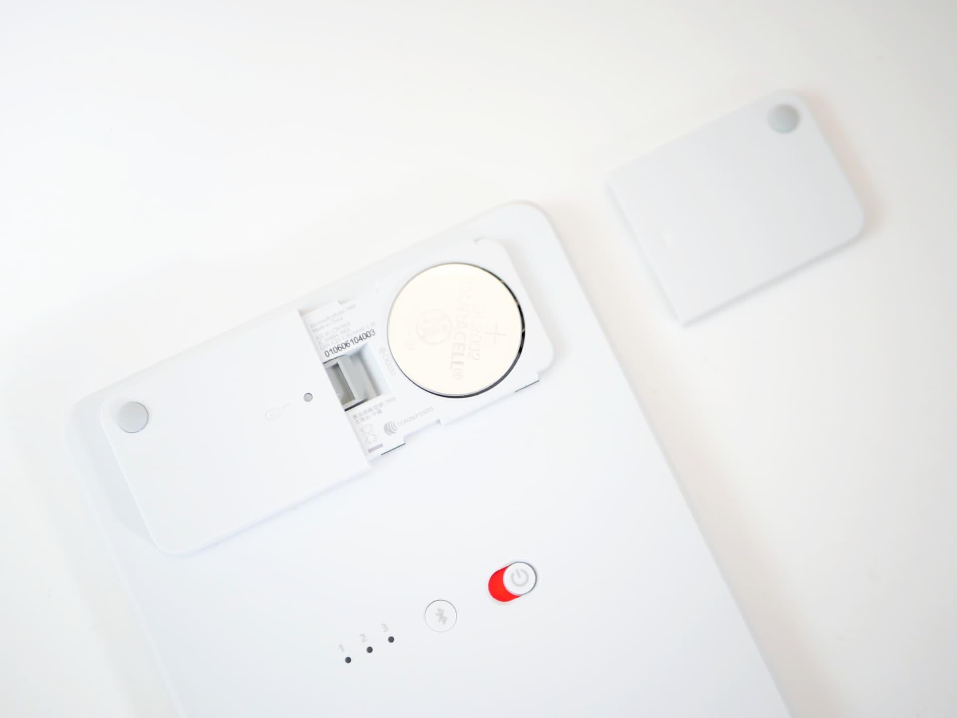 Microsoft Number Pad コイン電池
