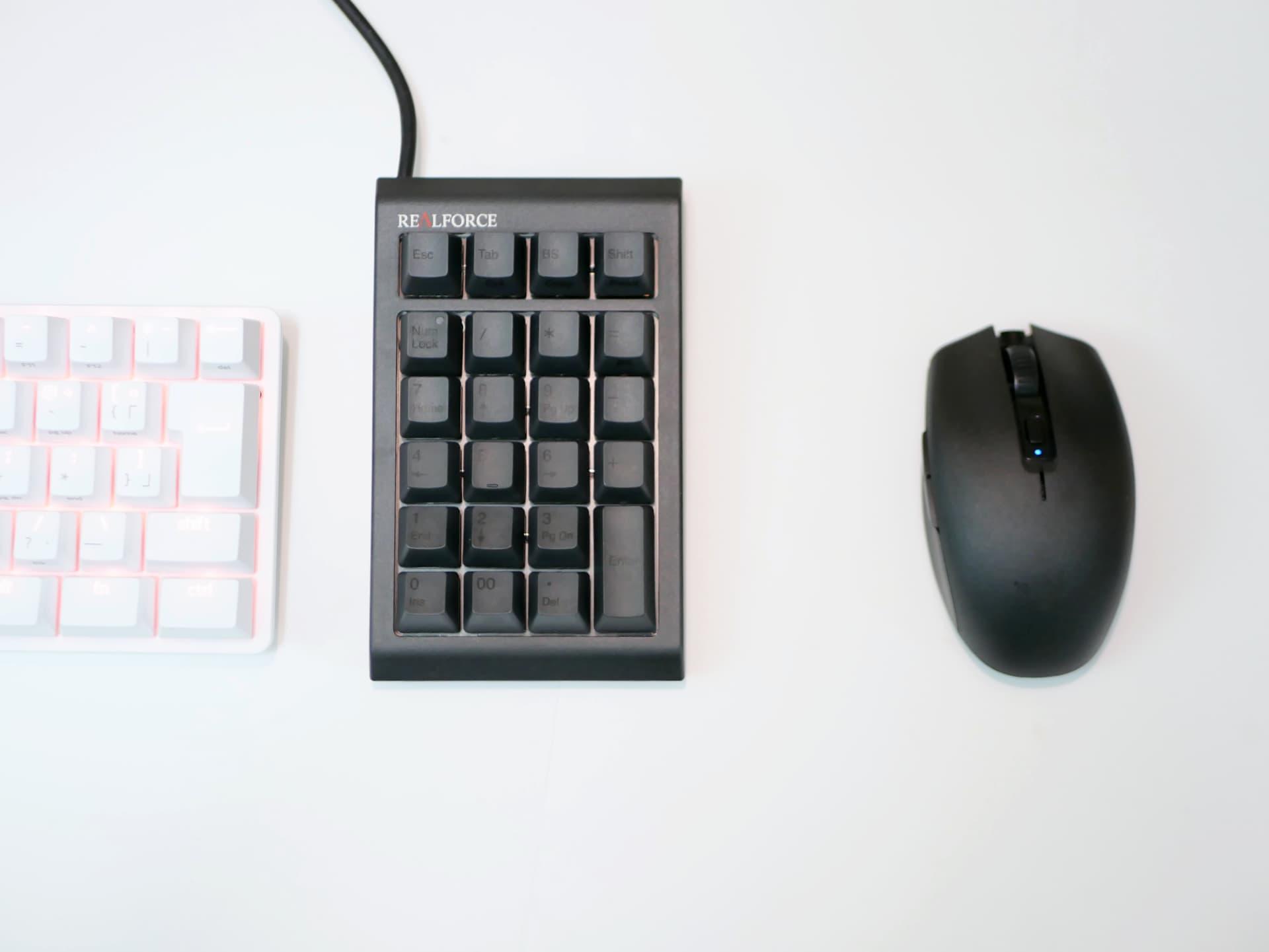 テンキーとマウス