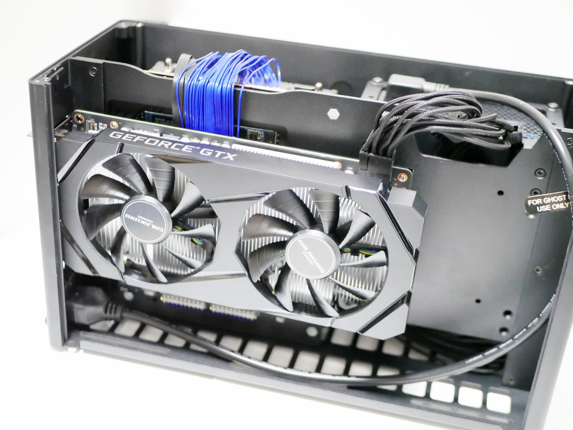 Ghost S1 にセットした GeForceGTX 1660 SUPER